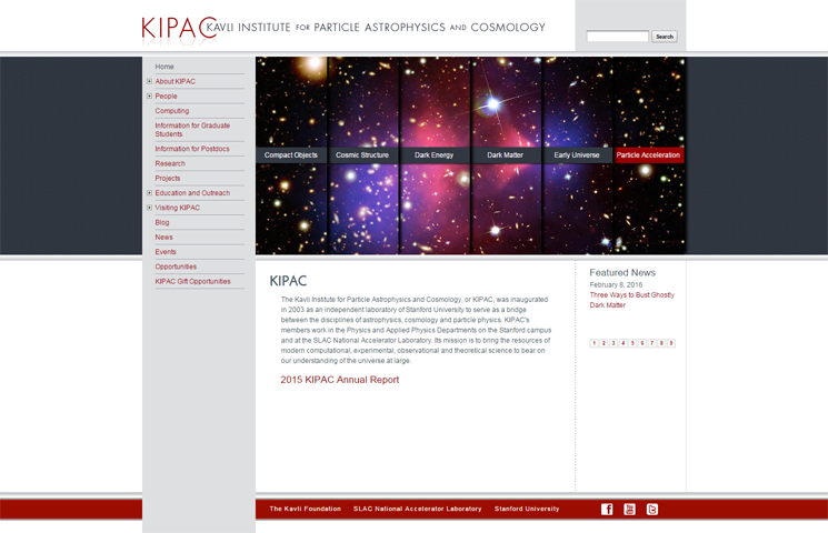 KIPAC - Kavli Institute for Particle Astrophysics and Cosmology